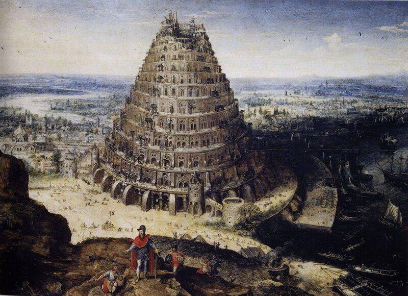 <em>The Tower of Babel</em>, Lucas van Valckenborch, 1594.