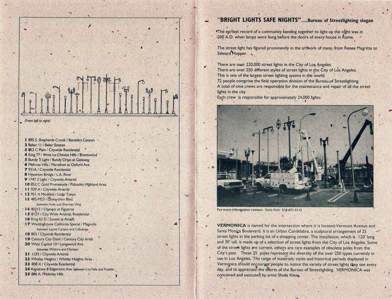 More information from the <em>Vermonica</em> pamphlet, including a catalog of the streetlights used.