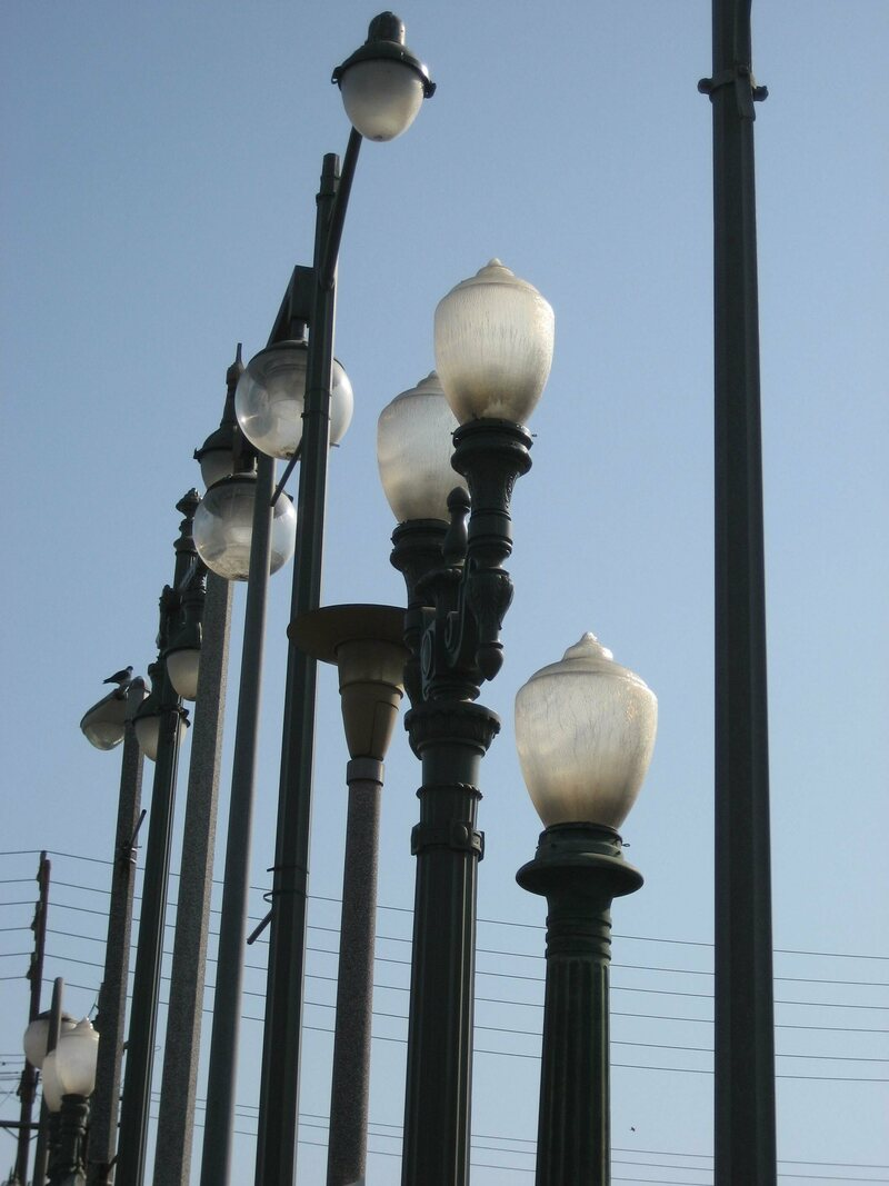 Even something that seems small—like the intersection of the streetlights with nearby telephone wires—bears on the overall effect of the artwork.