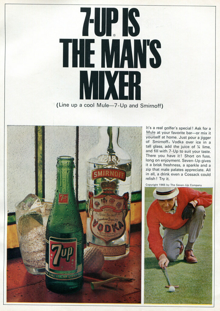 A 1965 advertisement for Smirnoff from <em>Sports Afield</em> magazine.