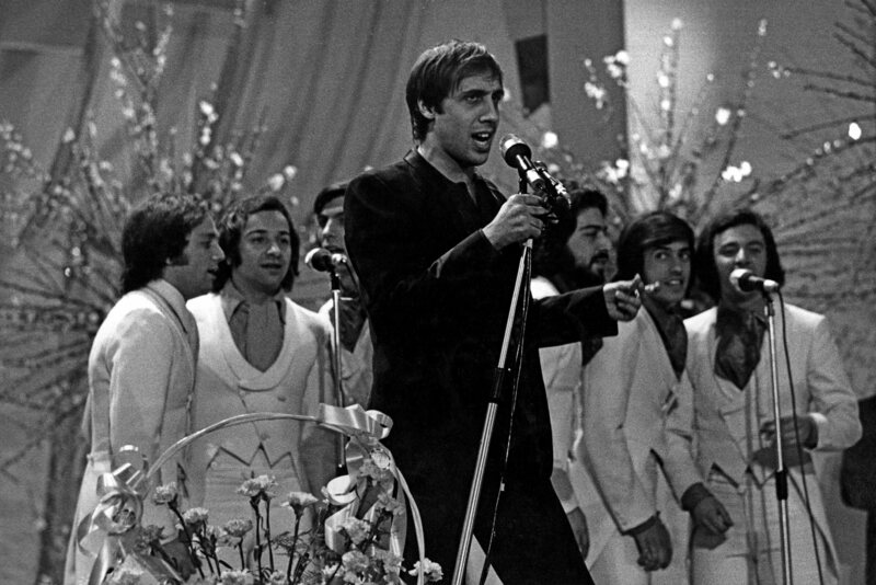 Adriano Celentano performing in 1970.