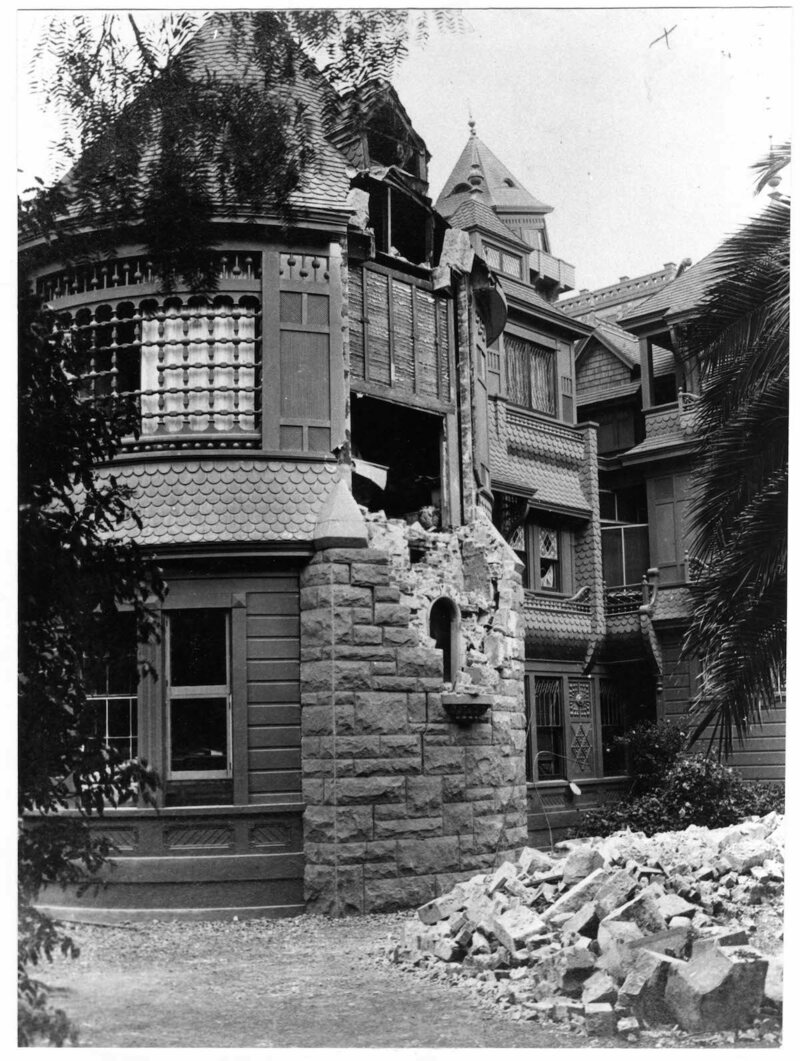 Damage from the 1906 earthquake.