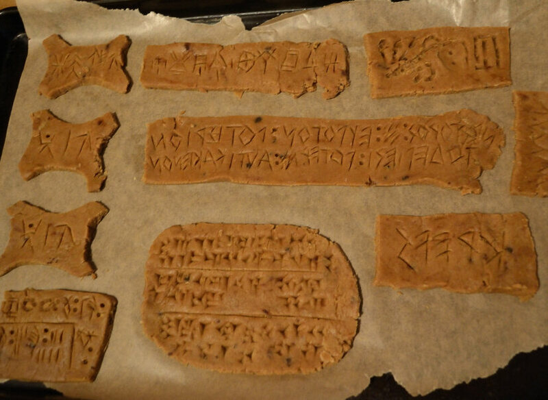 Ancient writing can be delicious.