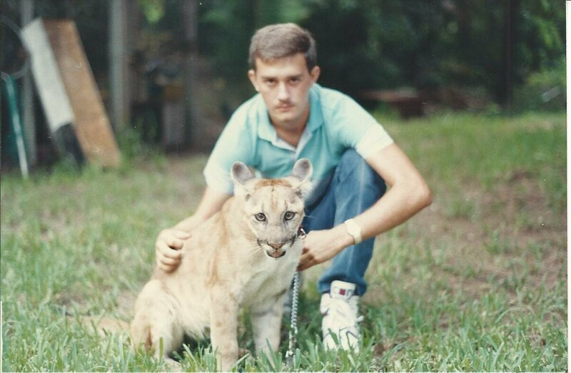 Todd Lester and a Florida panther.