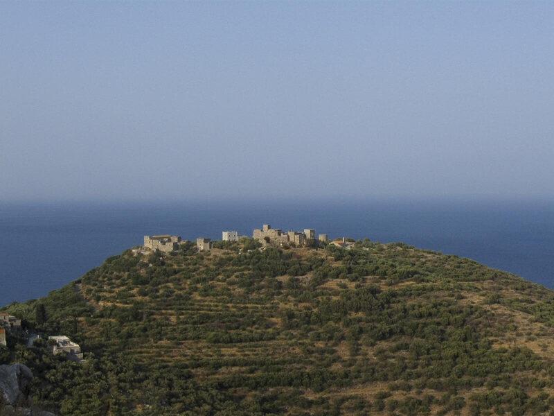 The village of Spira in Mani, Greece.