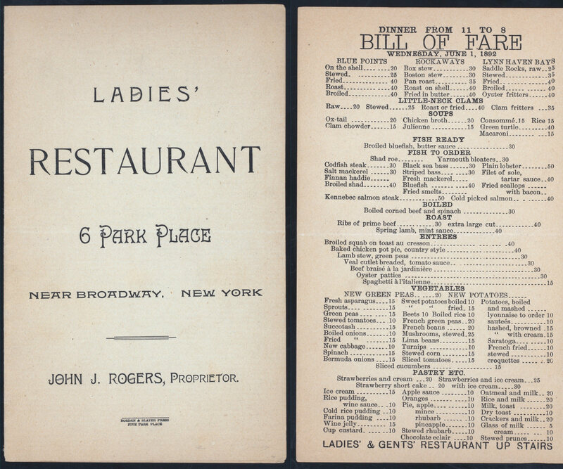 The Court Case That Killed The Ladies Menu  Gastro Obscura
