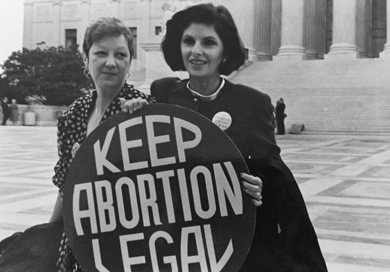 For a time, Gloria Allred (on the right) served as Norma McCorvey's attorney, the Jane Roe in Roe v. Wade.