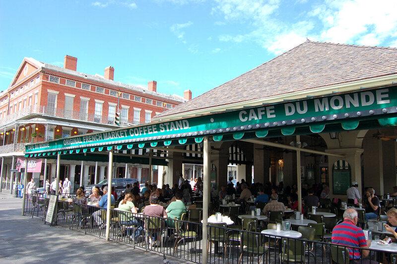 The Café du Monde is open 24/7, seven days a week.