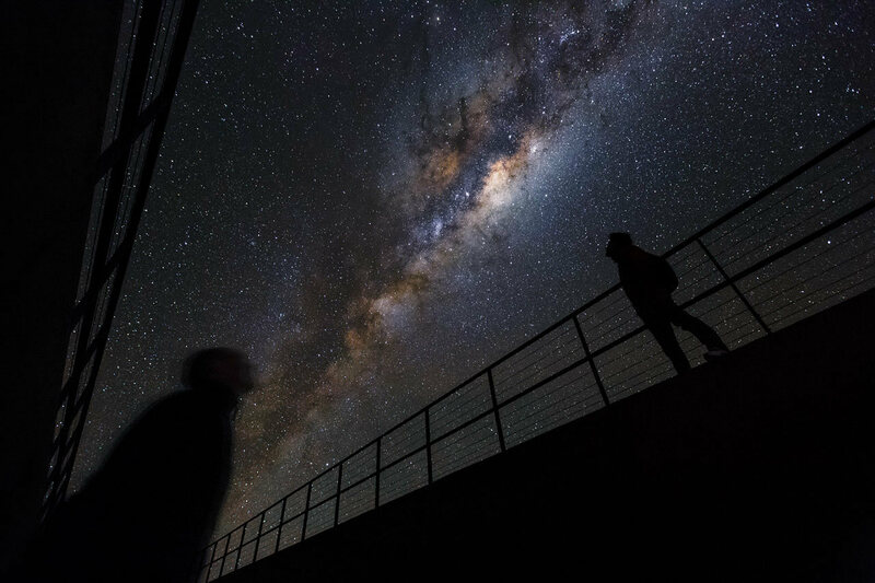 The Milky Way as observed from the Chilean desert.