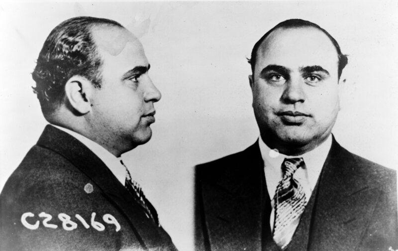 Al Capone's 1931 mugshot.
