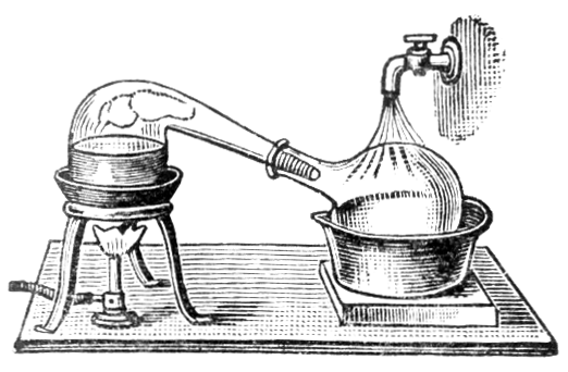 A simple example of an alembic still, circa 1910.