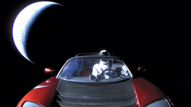 A car, in space.
