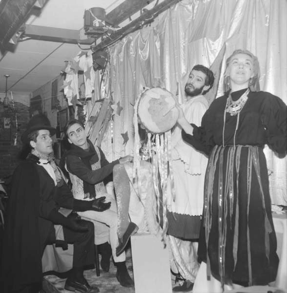 H.M. Koutoukas' <em>All Day For A Dollar</em> on stage in the Cino in 1966.
