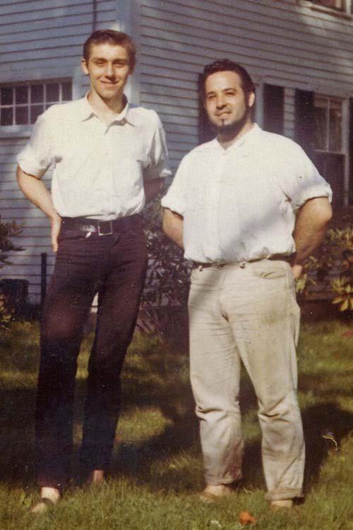 Joe Cino, with his lover John Torrey.
