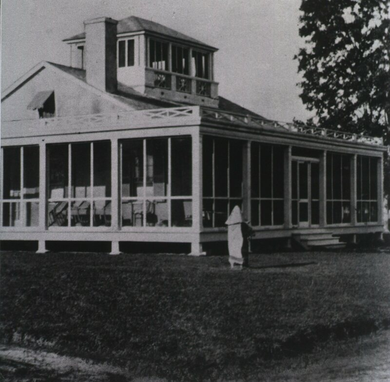 Staff residence for the Medical Officer in Charge, built 1921, at the hospital for patients with leprosy or Hansen's disease, in Carville, Louisiana, c. 1960s. The National Hansen's Disease Museum is now based here.