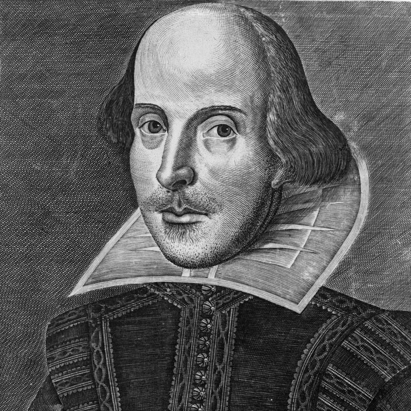 The Droeshout portrait of William Shakespeare.
