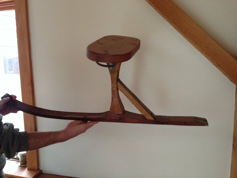 A classic Vermont-manufactured wooden jack jumper owned by Steve Mann of Charlotte.