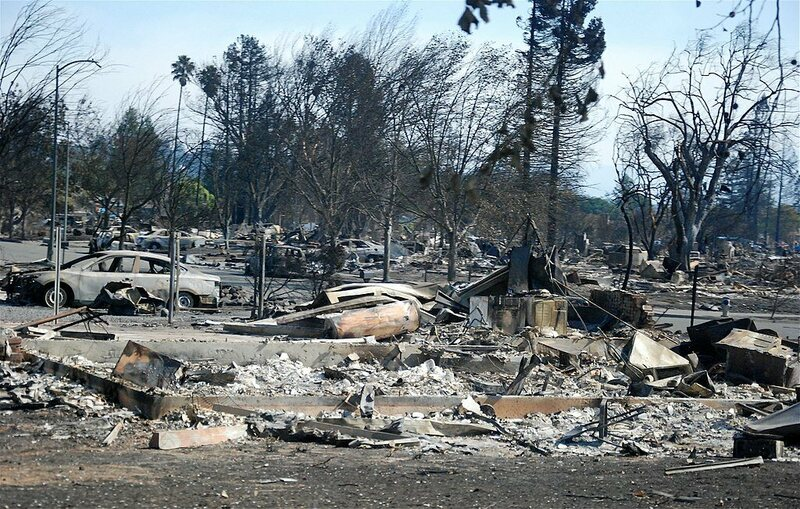 The October wildfires destroyed thousands of homes and other structures.