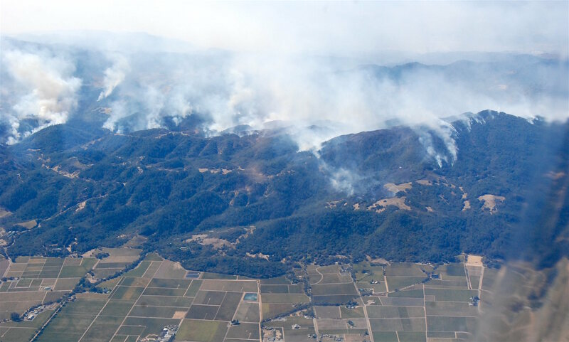 Smoke over Sonoma County.