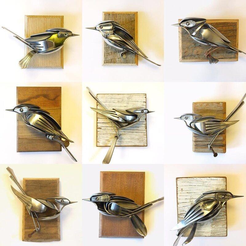 A whole flock of cutlery birds.