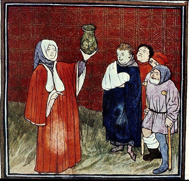 Urinalysis in the 15th century.