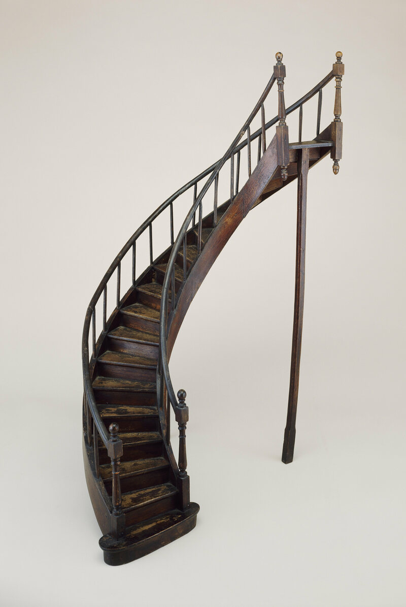 Staircase Model, Midu2013late 19th Century; Mahogany, Oak; H X W