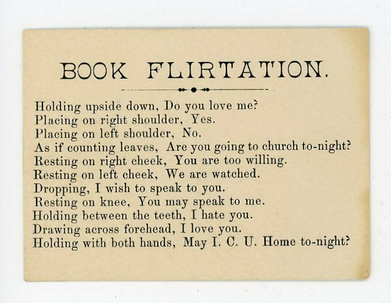 The Victorian Cards That Explained How to Use a Book to