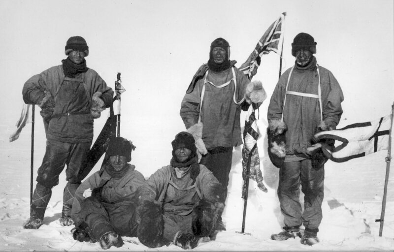 Robert Falcon Scott's expedition at the South Pole. The explorers did not survive the return journey.