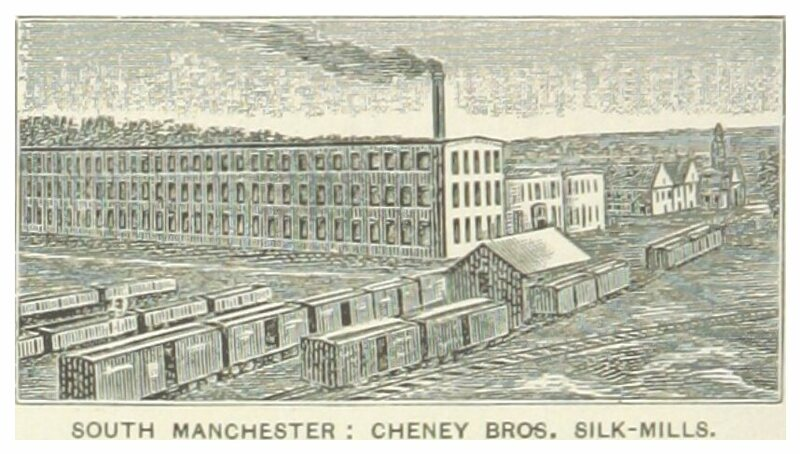 The Cheney Brothers silk mill in South Manchester, Connecticut.