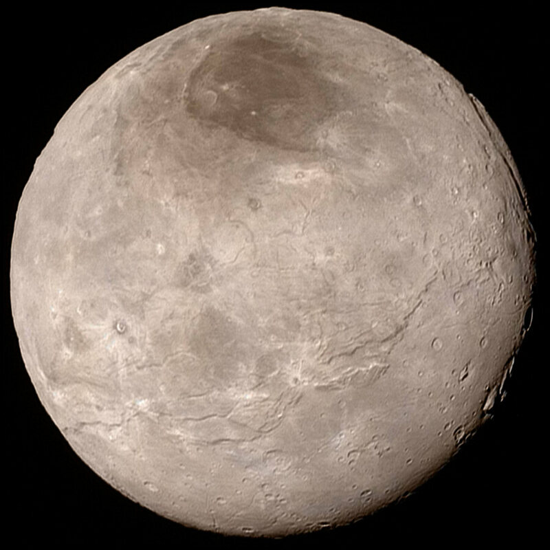 The planet Charon, now full of explorers.