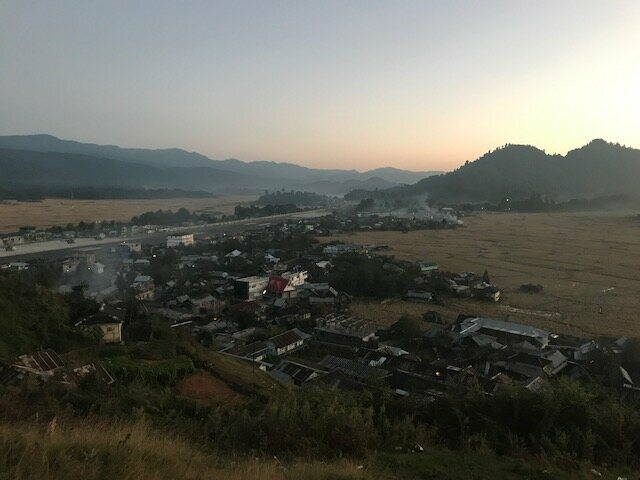 Sunset views over Ziro Valley, which is short-listed for UNESCO World Heritage status.