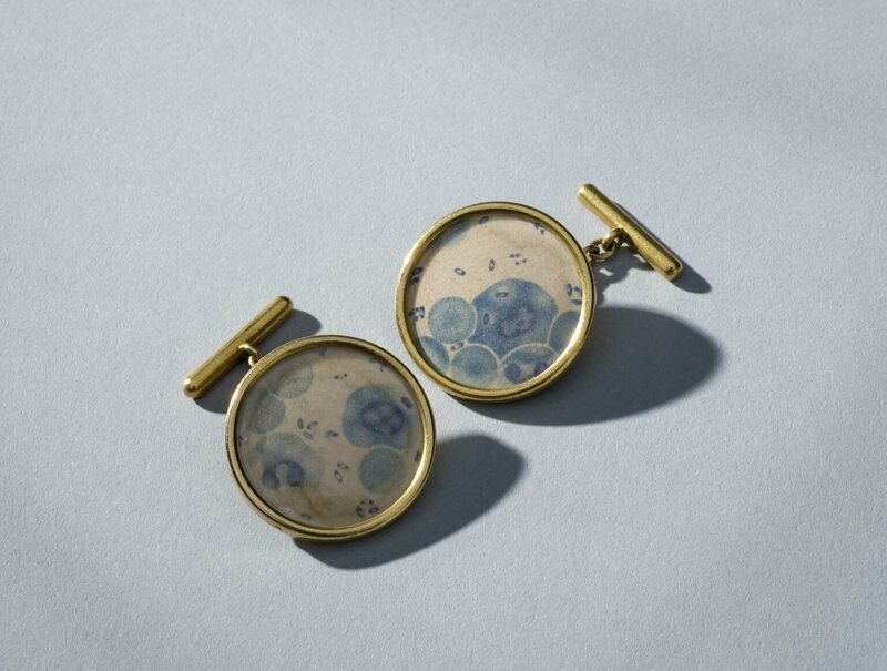 The Geekiest Cuff Links Of 1900 Featured Little Images Of Plague