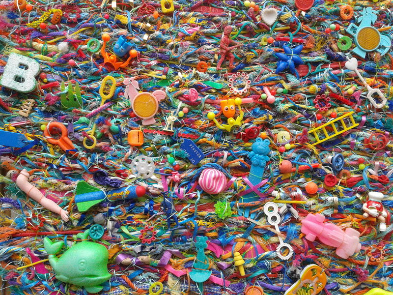 One of Jo Atherton's flotsam tapestries.