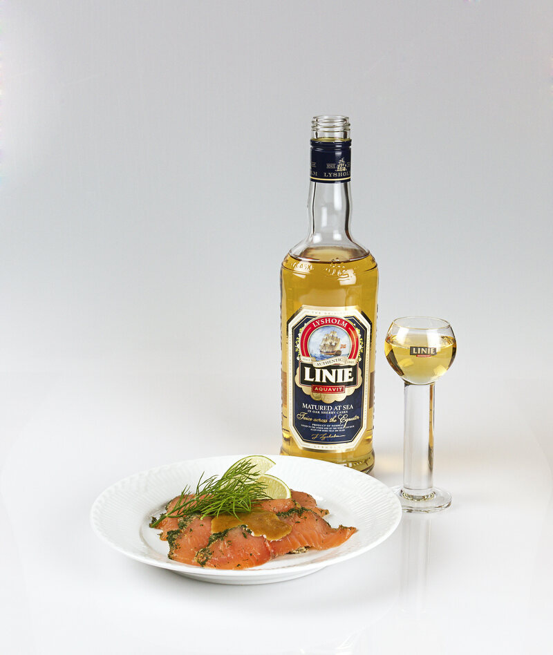Linie with a side of smoked salmon.