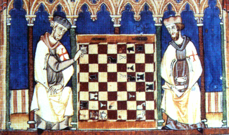 Knights templar wore habits such as these and spent their days together, far from the company of women.