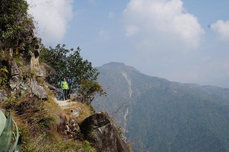 Dr. Tamang high in the Himalayas, making house calls.