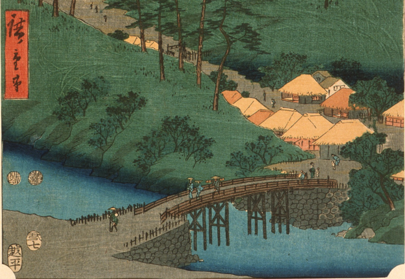 Detail from a 19th-century woodblock depicting Iga Province, where ninjas are said to have once lived.