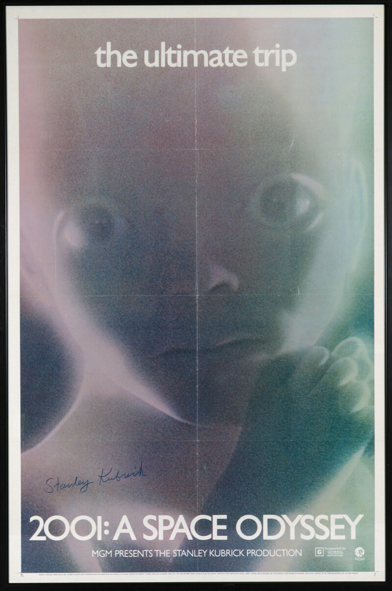 A promotional poster for the film shows the Star Child up close and ethereal.