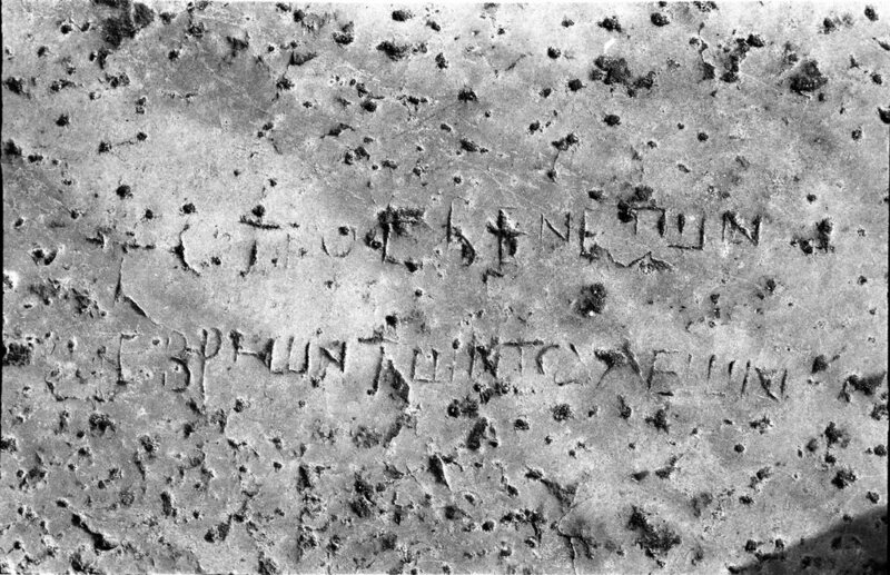 A seat inscription for the place of the elder Jews from the Bouleterion/Odeon of Aphrodisias, Turkey.