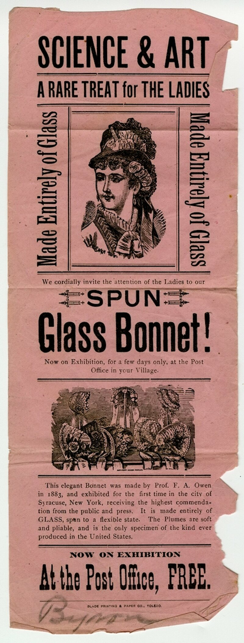 """Glass bonnets were """"a rare treat,"""" and it's not clear how many women actually ended up buying them."""
