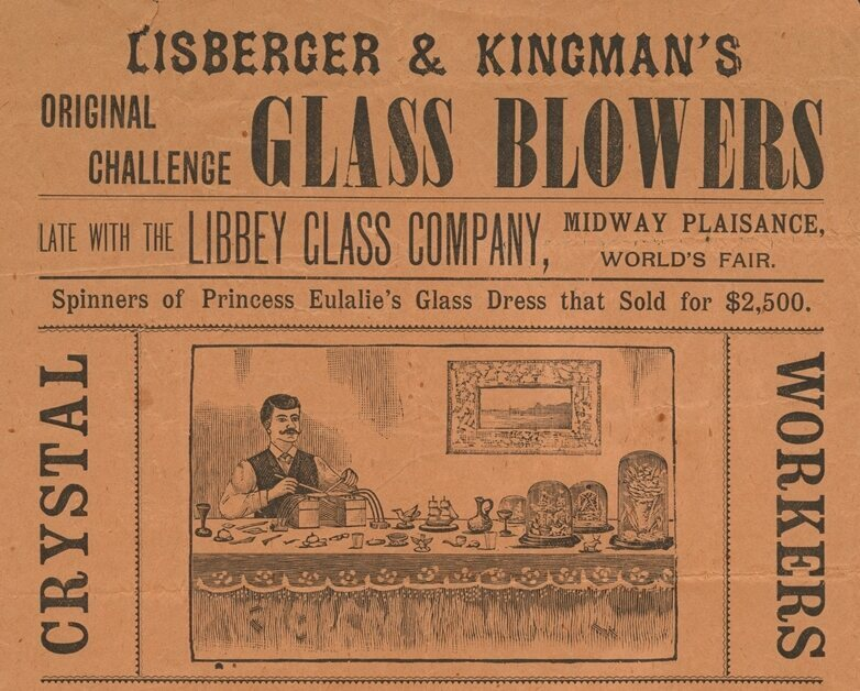 After the fair, glass fashion went on the road.