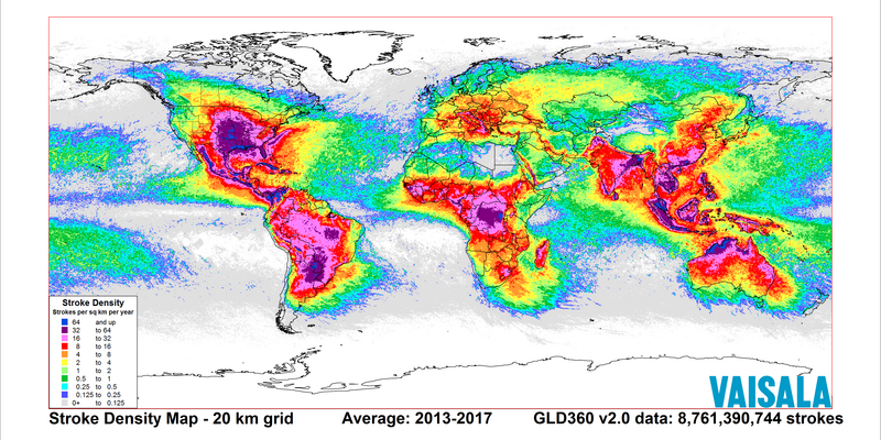 Egypt And Antartica Are Lightning Free Zone Areas But Not So Much North America