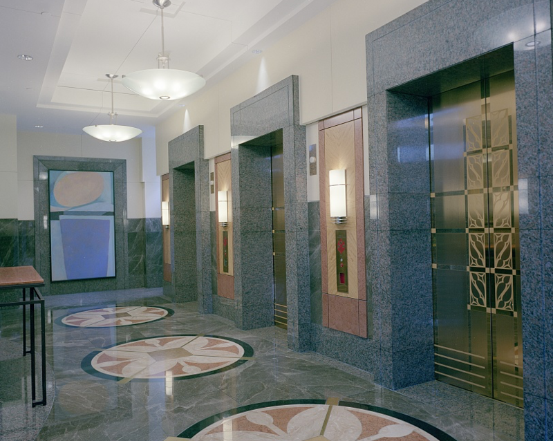 The Elevator Lobby Of A Commercial Building By American Photographer Carol Highsmith