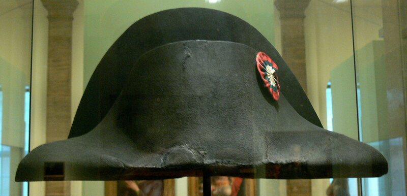 1dc1ca4f9e8 The hat said to have been worn by Napoléon Bonaparte at the battle of  Waterloo.