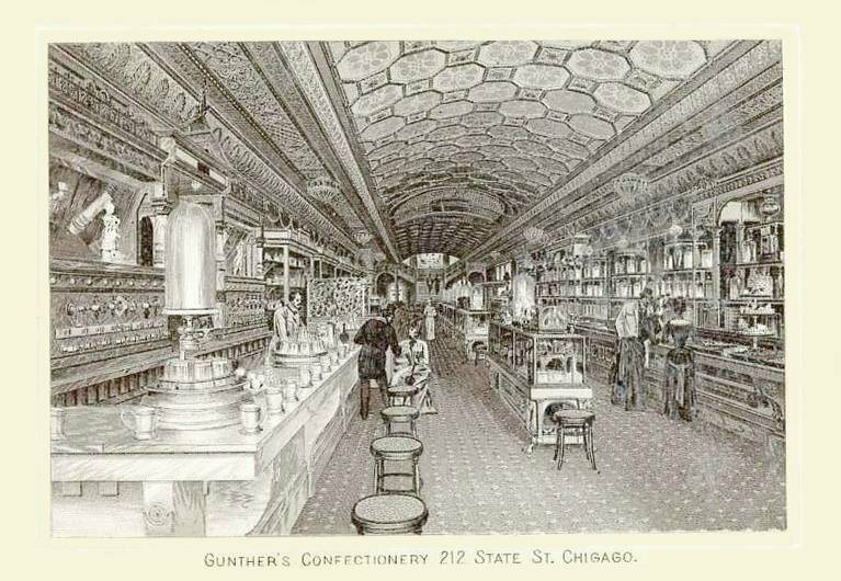 Gunther's Confectionery in Chicago was famous for its decadent creations.