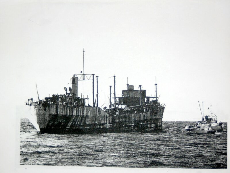 The <em>Jalisco</em> as it heads out to sea.