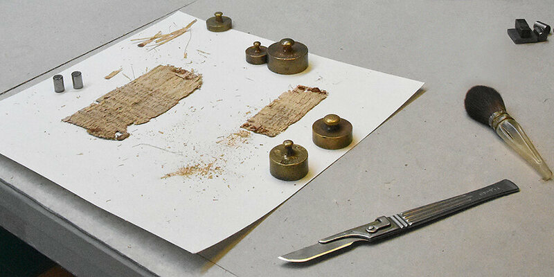 The conservation tools of papyrus.