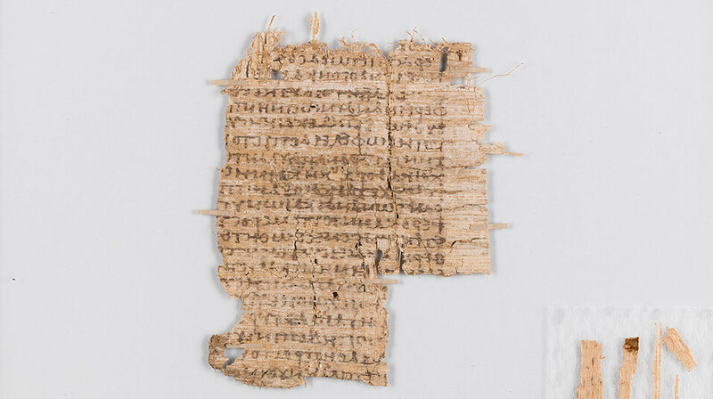 The papyrus after conservation.