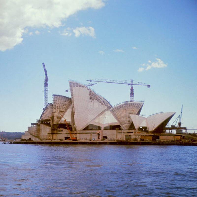 Work on the Sydney Opera House, 1966.