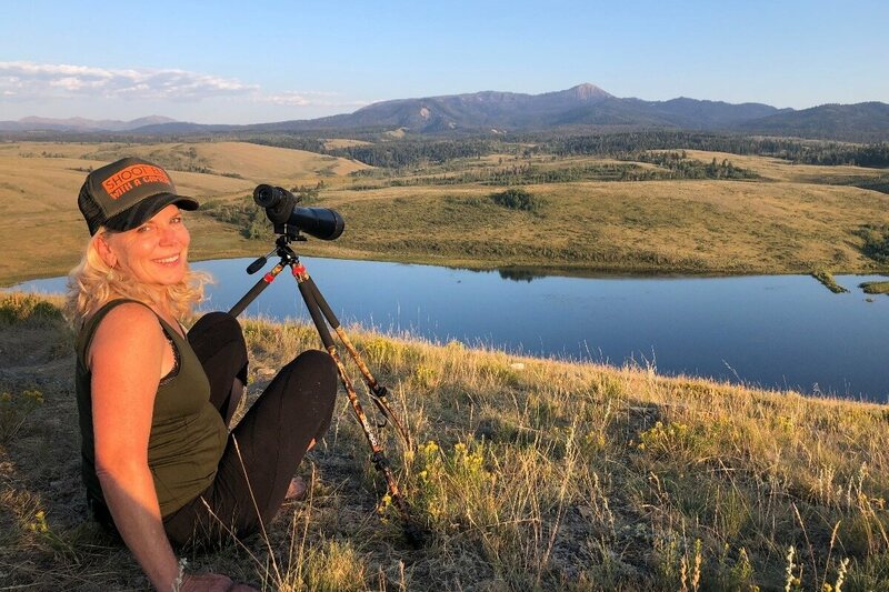 Kelly Mayor looks out over Wyoming grizzly territory, where she may soon spend ten days.